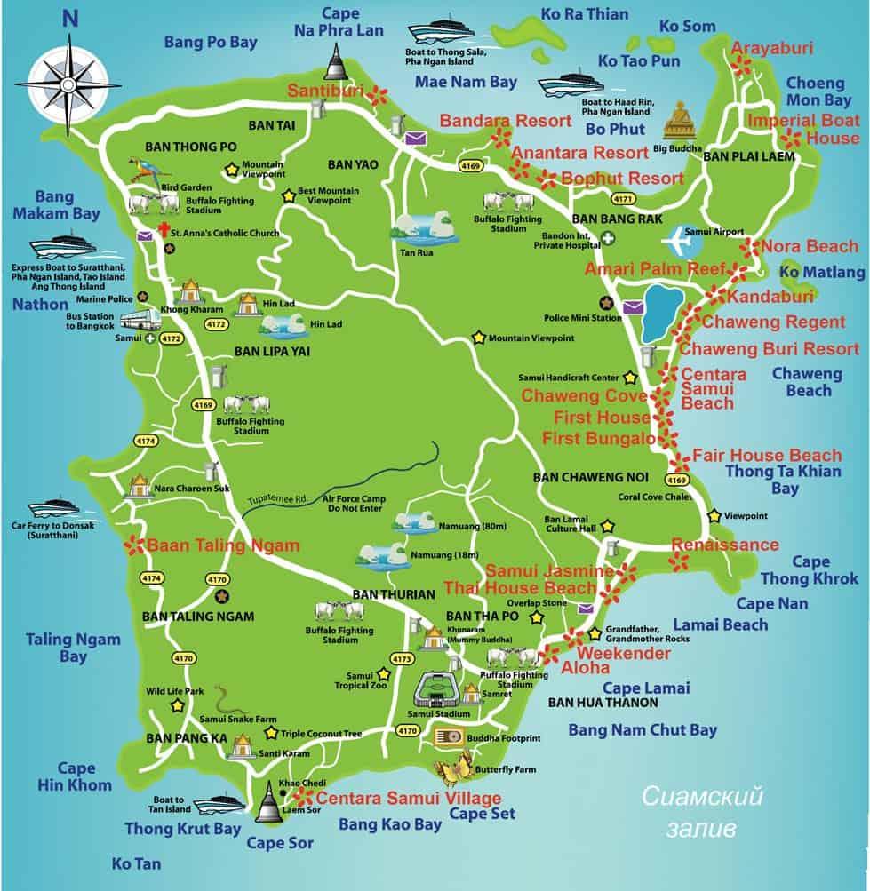koh samui island map 2