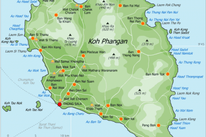 Koh Phangan Map 1