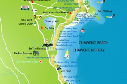 Chaweng Beach Map