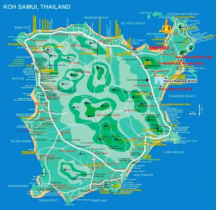 Koh Samui Map 3