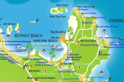 bophut beach map