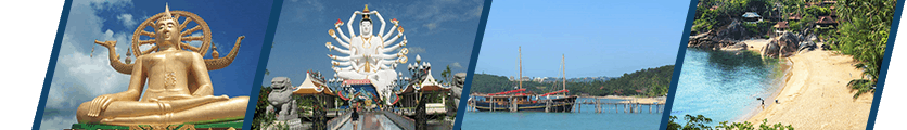Koh Samui Travel Hub Header Panes